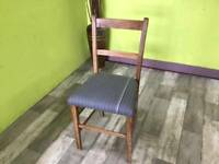 Bedroom Chair Upholstered In A Paul Smith Fabric - Can Deliver For £19