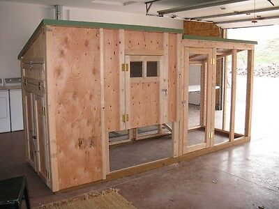 Chicken Coop Framing Plan With Material List And Storage Deluxe Coop Deville