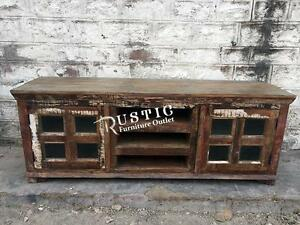 Jammu rustic recycled wood tv stand