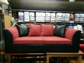 sofa for sale,good quality and brand new available in black leather and silver with white diamonds.