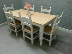 Gorgeous 6ft Shabby Chic Table Set - Delivery Available