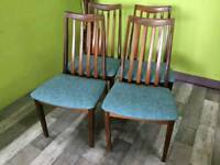 Set Of 4 G Plan Chairs - Can Deliver For £19