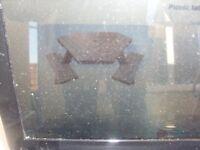 Hardwood Triangular Picnic Table