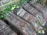 over 1000 reclaimed clay roof tiles, garden or building projects