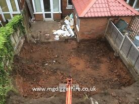 all garden work undertaken mini andmicro digger hire with driver