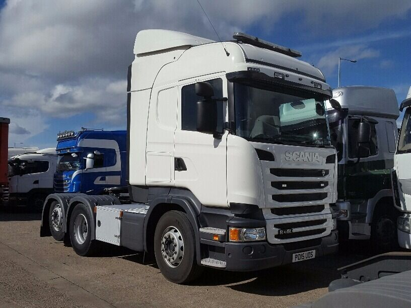 2015-15 plate scania r450 highline cab 6x2 tag axle manual gearbox very low klms plus vat