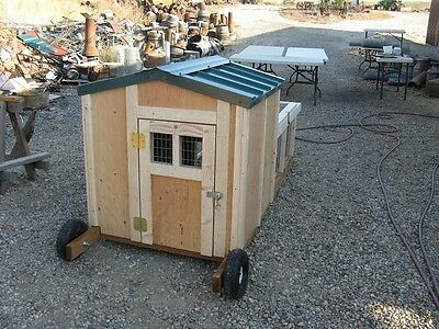 Chicken Tractor And Chicken Coop Plan Plus Material List Cute Very Nice