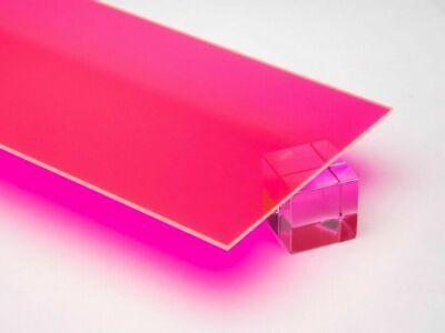 18 3mm Pink Fluorescent Acrylic 12x12 Cast Plexiglass Sheet Azm