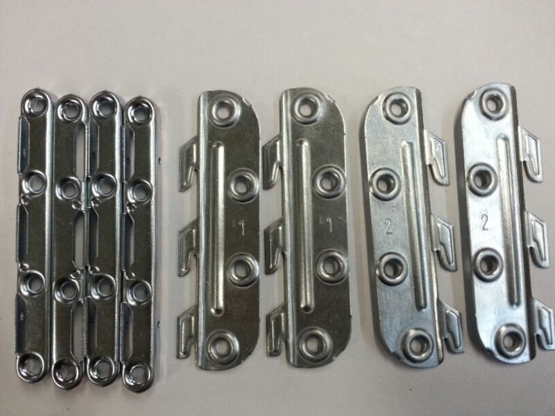 SET(4 MALE 4 FEMAL) Bracket Fitting Bed Rail Fastener steel,130mm Made in France