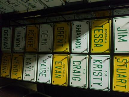Small number plates with names Hatton Vale Lockyer Valley Preview