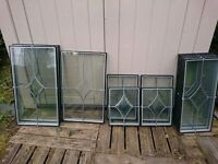 Doubled glazed units for sale various size including some attractive top section bevelled units