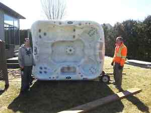 We Recouperate Recycle Buy and Move Hot tubs and spas.