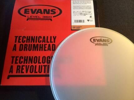 NEW Evans Level 360 Drum Heads