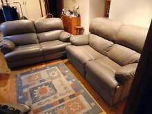Leather Lounge Suite with Recliner Winston Hills Parramatta Area Preview