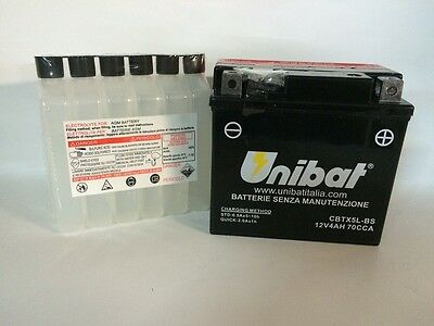Cbtx5l Bs Motorcycle Battery Unibat 4Ah 70A Yuasa Ytx5l Bs