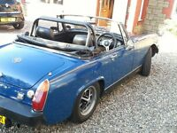 MG Midget in good condition, MOT to April 17