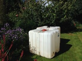1000 litre water storage container.