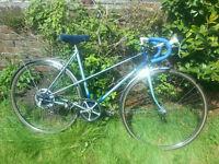 Blue vintage Raleigh racing bike / bicycle