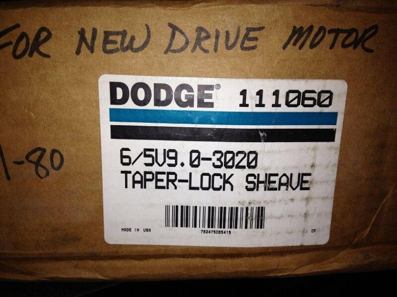 DODGE #111060, TAPER-LOCK SHEAVE, 6/5V9.0-3020, FREE SHIPPING
