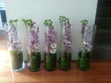 Glass Vases x 5 for sale - Reduced to sell Matraville Eastern Suburbs Preview