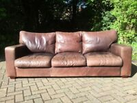Ultra-comfortable high-end leather sofa and armchair
