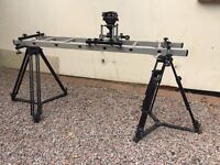 Hague Video Camera Ladder Dolly with One Set of Vinten Tripod Legs