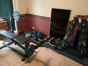 Home gym bench and weights sale Cranebrook Penrith Area Preview