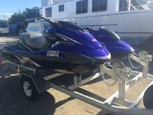 YAMAHA WAVE RUNNERS PACKAGE ON CUSTOM BUILT ALLOY TRAILER Tin Can Bay Gympie Area Preview