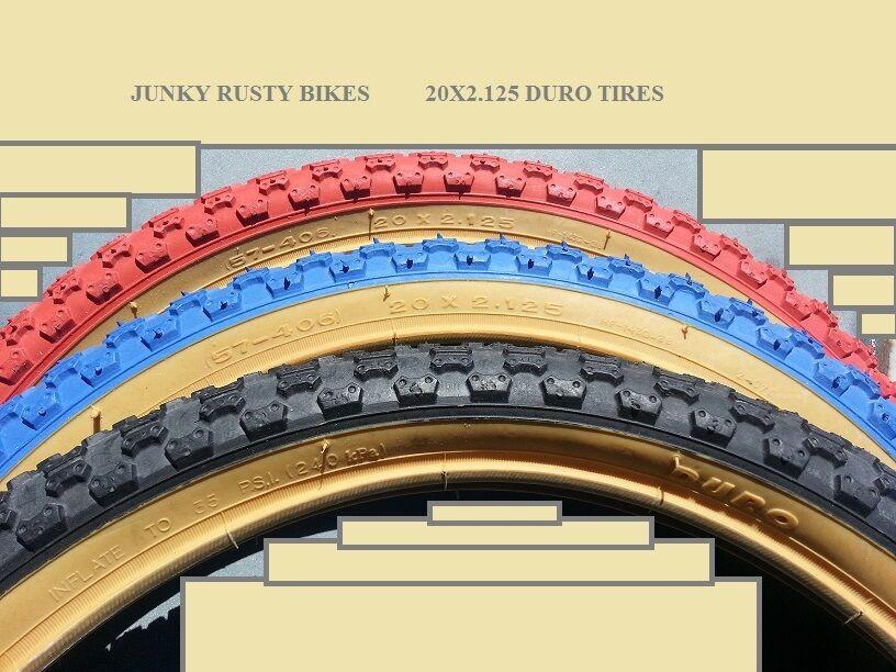 2-20x2.125 RED GUM WALL BMX tire old school bike BICYCLE #260848 COMP 3 TREAD