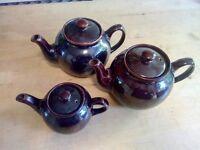 Vintage SADLER Teapots x 3