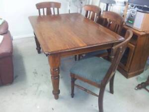 Blackwood Dining table and 4 chairs