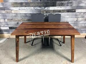 Table à diner moderne rustique en bois de rose (sheesham)