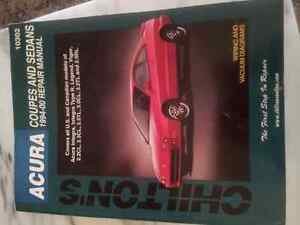 Chilton repair manual for 94'-00' Acura sedans/coupes Cornwall Ontario image 1