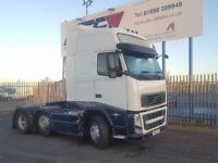2010- 60 plate volvo fh 13-460 6x2 midlift globetrotter auto very clean plus vat