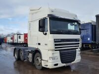 2014-64 plate daf xf105-460 space cab single sleeper auto low klms plus vat