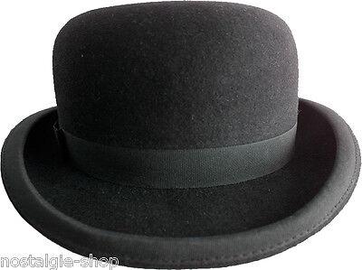 Hut Bowler (Melone Wolle Hut Steampank Gothic Bowler Coke Hat Rockabilly Cap Charlie Chaplin)