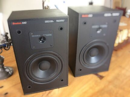 Boston A40 bookshelf speakers