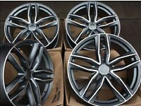 "19"" AUDI RS6 STYLE ALLOYS WHEELS RS4 RS5 RS3 RS7 A4 A3 A5 A6 A7 S3 S4 S5 S6 A8 S8 S LINE"