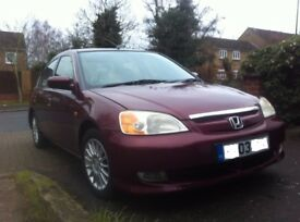 £1370,Honda Civic 1.3 IMA-Hybrid, Manual, RdTax£30 pr/yer,Low insurance,Congestion Free,First Buyers