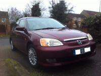£1370,Honda Civic 1.3 IMA-Hybrid, Manual, RdTax£30 pr/yer,Low insurance,Congestion Free,First Buyers