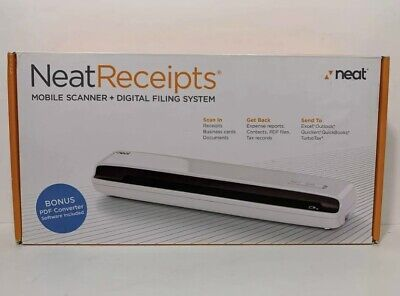 Neat Receipts Mobile Document Scanner and Digital Filing System for PC Sealed
