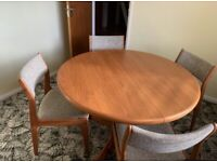 G-plan dining table and chairs for sale