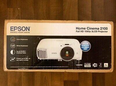 Epson Home Cinema 2100 3LCD Projector FULL HD 1080P V11H851020 2500 Lumens