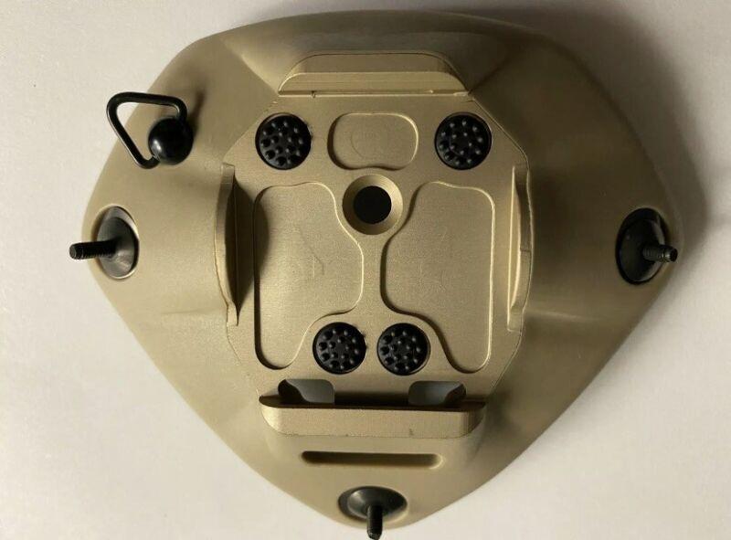 NVG Base Plate New Universal Norotos Shroud Helmet 1 Hole/ 3 Hole P/N 1817010