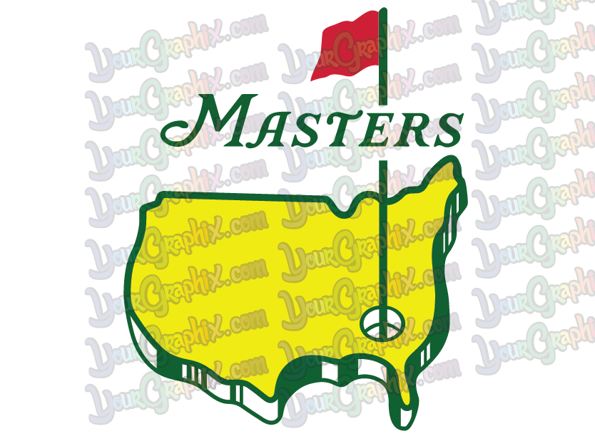 Home Decoration - Masters Golf Logo -  Vinyl Decal stickers - Made in USA