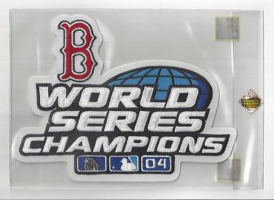 2004 Boston Red Sox World Series Champs Champions 9x7 Jacket Size Patch Sealed 2004 World Series Patch