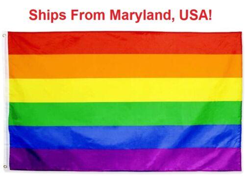 Rainbow Flag 3x5 Ft - Gay Pride Parade Day - LGBT Symbol - LGBTQ Gaypride