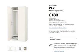 2x IKEA PAX Wardrobe frames 236x75x60