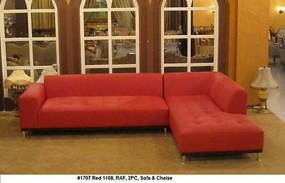2 pieces set modern contemporary design red