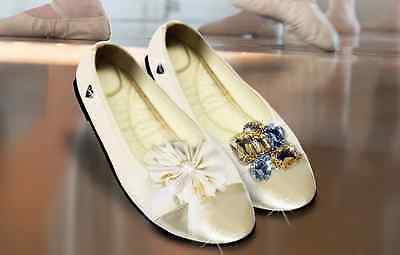 happy shoes Design Wohlfühl Ballerina, creme (Größe:M=38/39) Neu Tasche